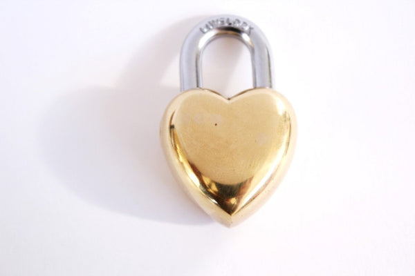 Vintage Wedding Gift Small Heart Lock/Love Lock . heart padlock . heart shaped lock . key to my heart . gift for him