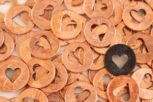 10 Heart Penny Coins