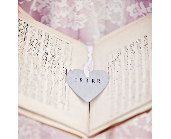 Personalized Tin Heart Ornament
