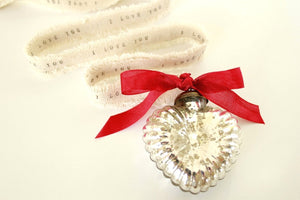 Personalized Silver Mercury Glass Ornaments