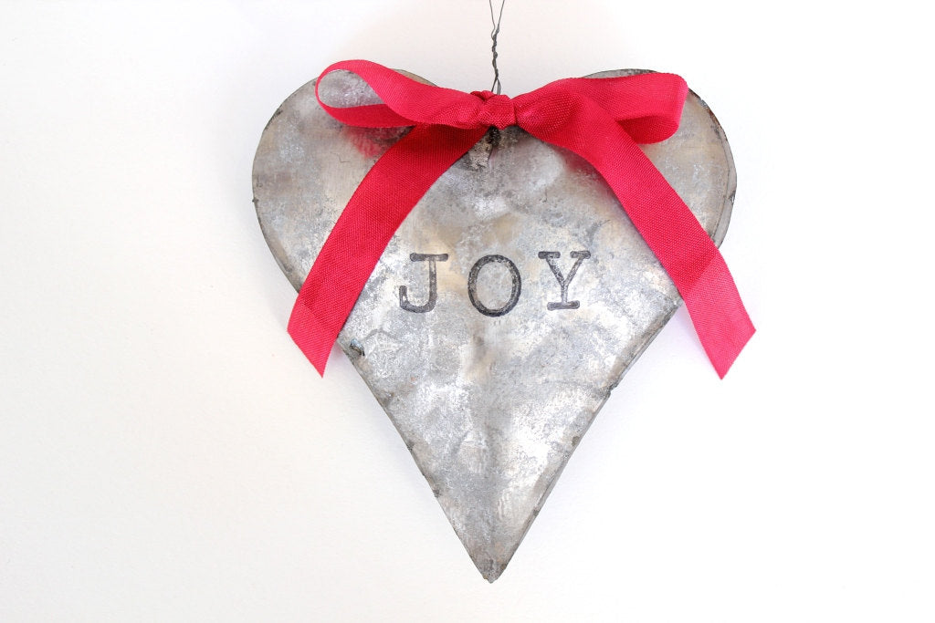 Rustic Heart Ornament Galvanized
