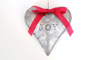 Rustic Heart Ornament Galvanized Heart