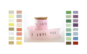 Personalized Ribbon / Vintage Rayon Ribbon