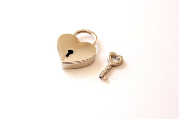 Small Heart Lock and Key/heart padlock & heart key wedding favors key favors