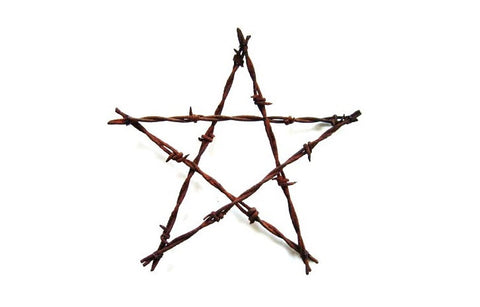 Rustic Wedding Decor - Barbed Wire Star . large 4th of July stars . 4th of July decorations . Old Rusty Stars . metal star . large stars