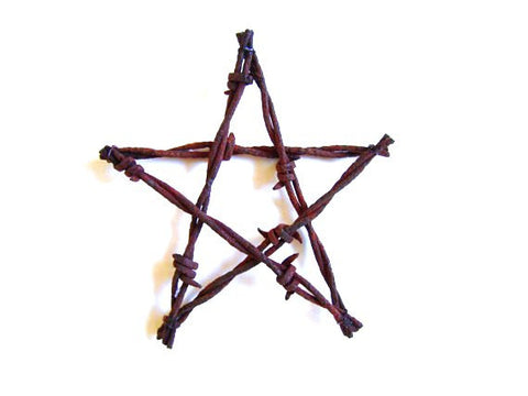 3 Barbed Wire Star Ornaments