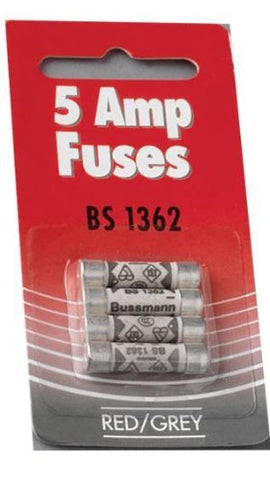 5 Amp fuse pack of 4