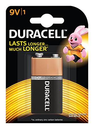 Duracell 9v battery pack of 1