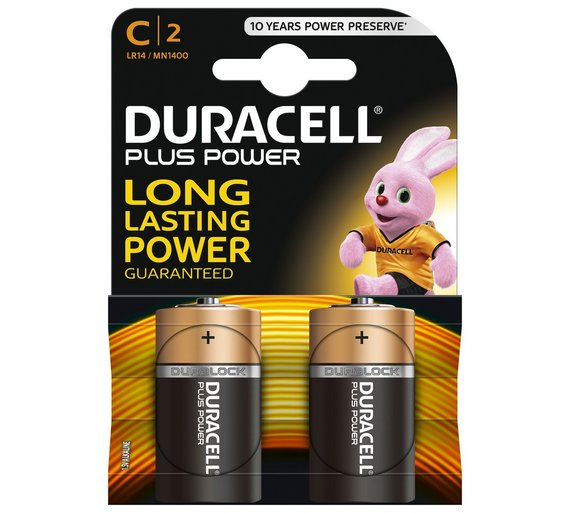 Duracell c batteries pack of 2