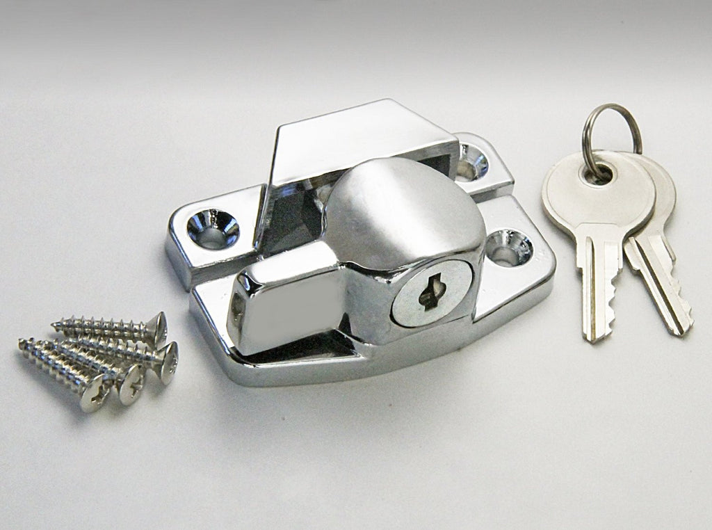 Chrome Sash Window Lock And Keys