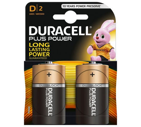 Duracell d batteries pack of 2