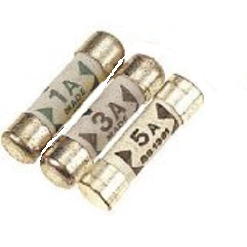 Mixed mini (shaver) fuses 1, 3, and 5 amp (2 of each)