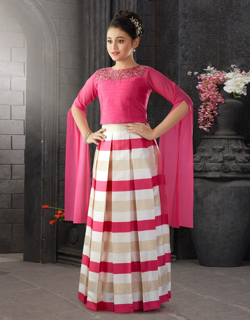 Rani Choli with Striped Lehenga