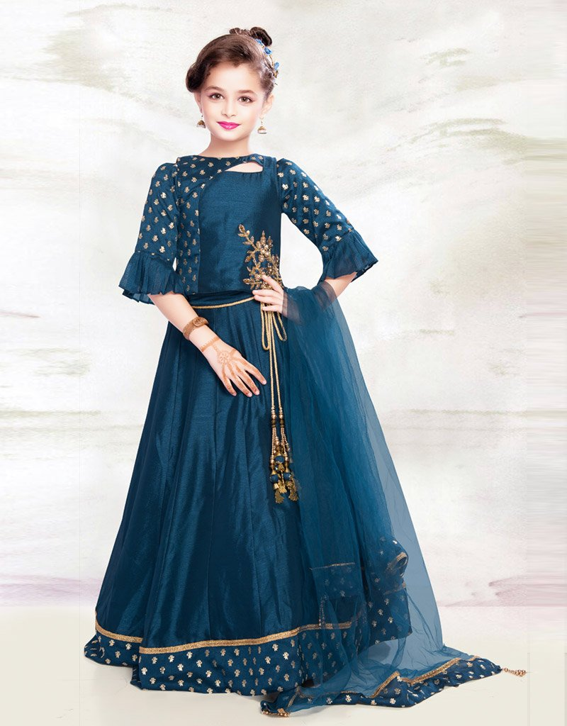 Navy Blue Lehenga with Navy Blue Choli