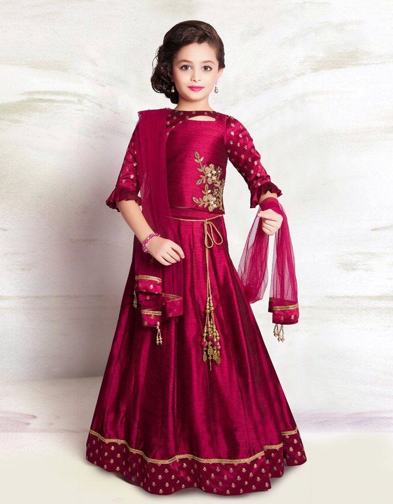 Maroon Lehenga with Maroon Choli