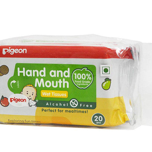 Pigeon Hand & Mouth Wipes 20S, 2 in 1