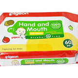 Pigeon Hand & Mouth Wipes 60S, 2 in 1