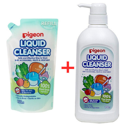 Pigeon Liquid Cleanser 700ml + 650ml Refill