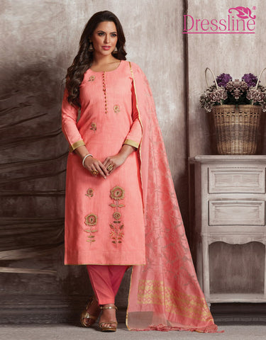 Embroidered Cotton Silk Anarkali Suit