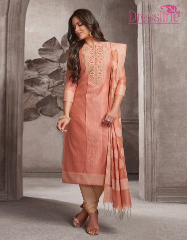 Straight Kurta with Chudidar & Dupatta