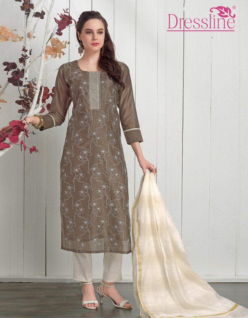 Straight Kurta with Pant & Dupatta