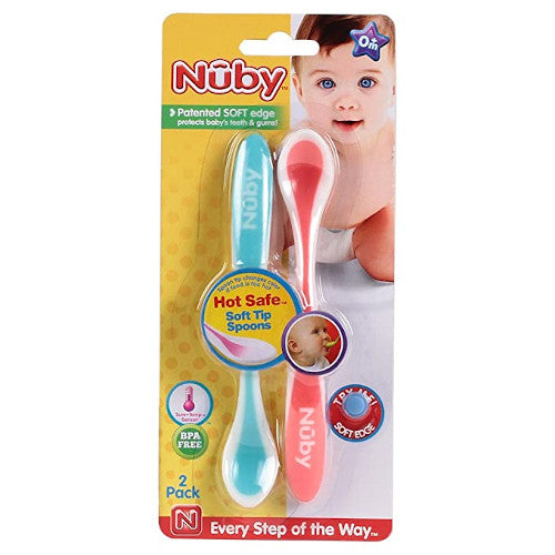 Nuby 2 Pack Hot Safe Spoons
