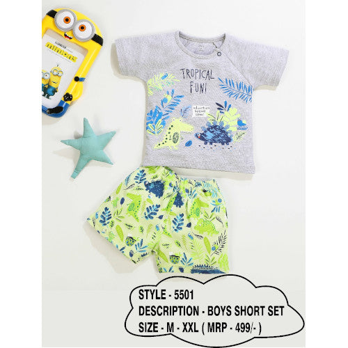 Boys Multi T-Shirt & Multi Shorts