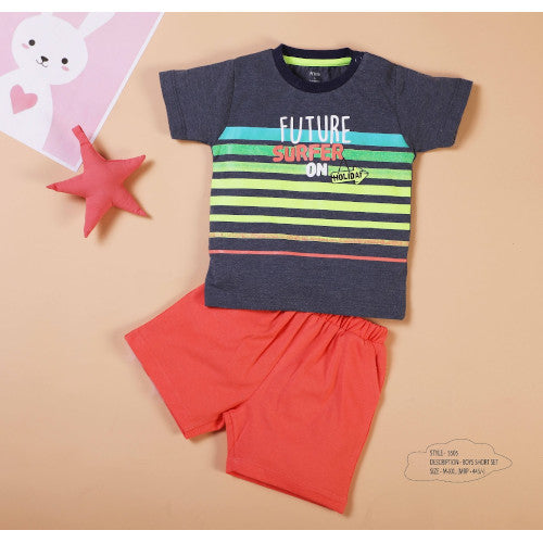 Boys Multi T-Shirt & Knit Shorts