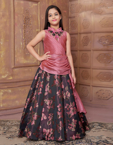 Dusty Pink Floor Length Gown
