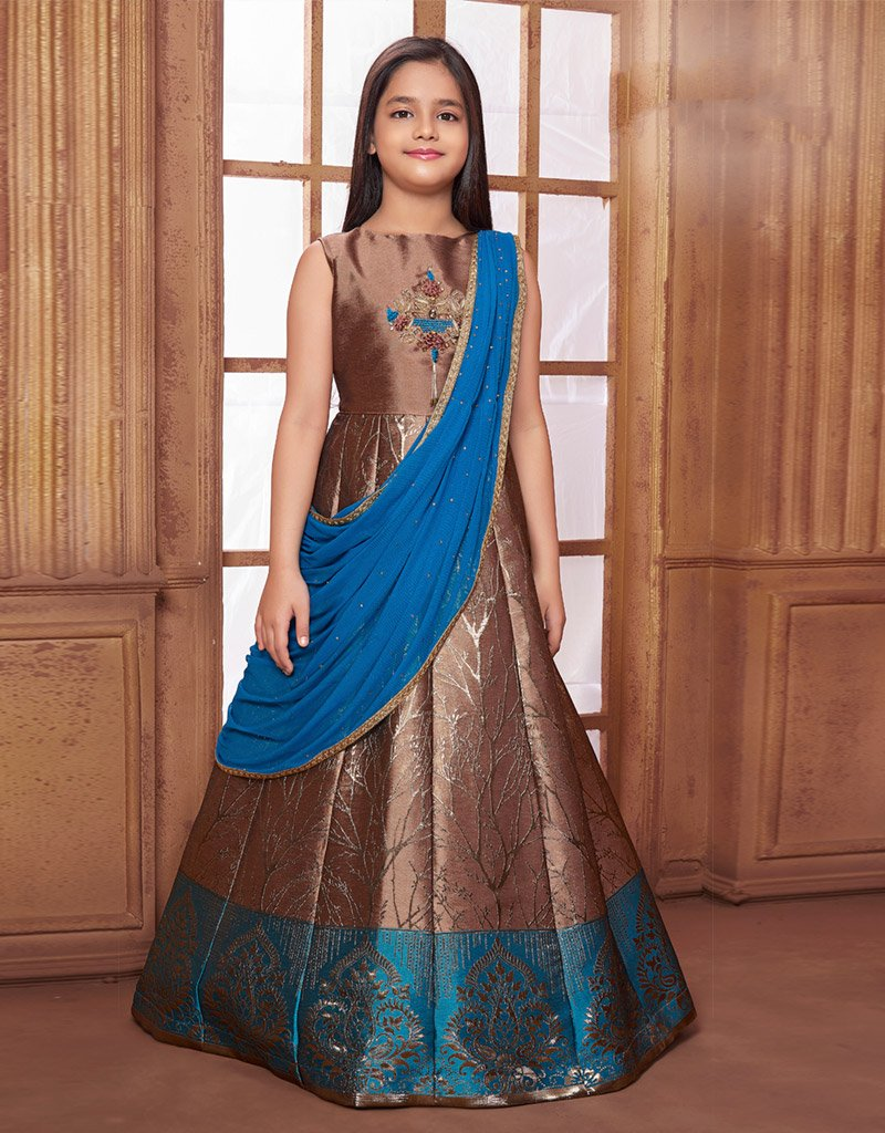 Chocolate Brown Floor Length Gown