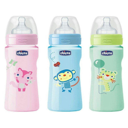 Chicco Well-Being Feeding Bottle 330ml Fast Flow