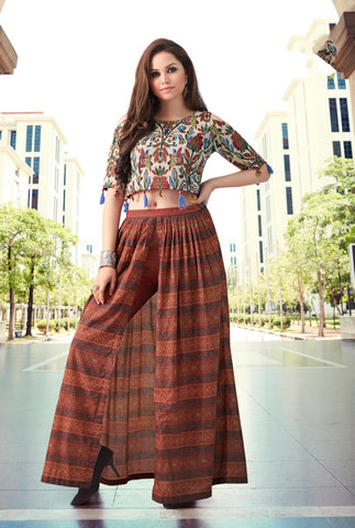Western Kurti With Top and Bottom