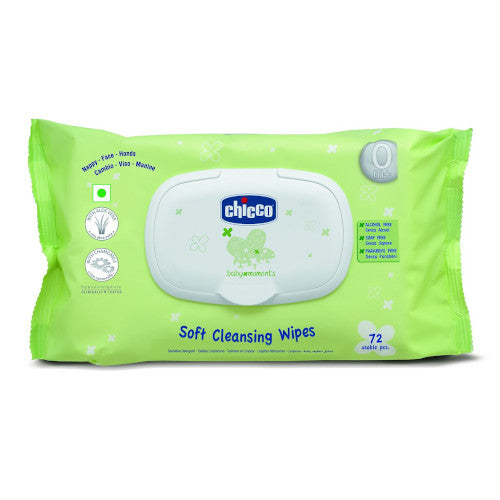 Chicco Cleansing Wipes 72 pcs (with fliptop)