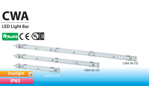 PATLITE SIGNALFX CWA IP65 LED Lighting for CNC, Food & Beverage, Cabinets Industrial Retail Commercial vision inspection