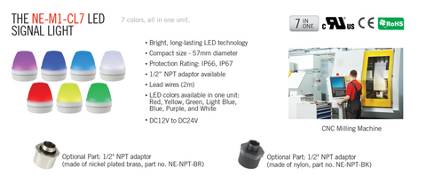Patlite Signalfx Australia Vision Inspection Food and Beverage Processing IP rated LED Lighting Breast Lamp NE-M1-CL7