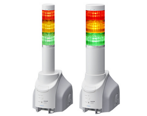 Patlite SignalFx Multi Colour LED Warning Light & Sounder for Information Cyber Security Network Monitoring ; Compatible with any software, network or machine.  パトライト NH-FV NHS-3FV1-RYG [MP3再生ネットワーク監視表示灯]