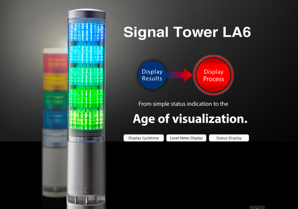 New Patlite La6 La6 3dwjub Led Signal Tower Stack Light
