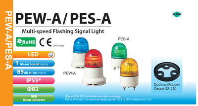 PATLITE SignalFx PES-24 PES-24A Static Steady Indicating FLASHING LED Warning Light Beacon Security Building Indicating Breast Lamp