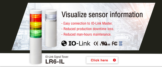 IO-link master ethernet lan Patlite Signalfx led signal tower light usb iot smart factory plc siemens mitsubishi omron