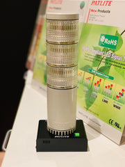 NHM-3FB-RYG PATLITE NHM Network Monitoring LAN Ethernet LED Alarm Notification Signal Tower Light for Computers, hardware, IT, IoT, or software MADE IN JAPAN