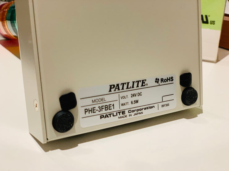 PATLITE PHE-3FB1-RYG RS-232C IT Network Monitoring LED Alarm Notification Signal Light Tower System Indication Warning MADE IN JAPAN