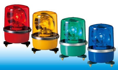 Patlite SKP SKP-A SKP-101A SKP-102A SKP-101A-Y Signalfx Rotating Beacon Warning Light Komatsu