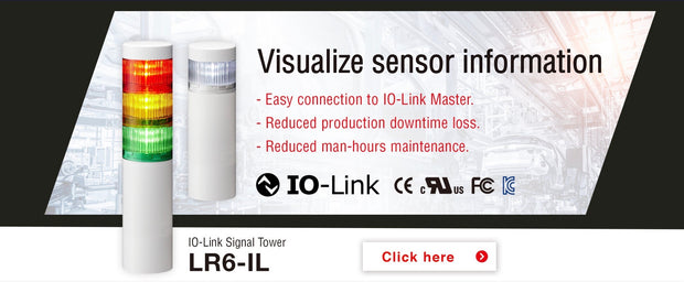 IO Link LED Tower Light Warning Indication works with IFM Siemens Phoenix Contact IOLink Master