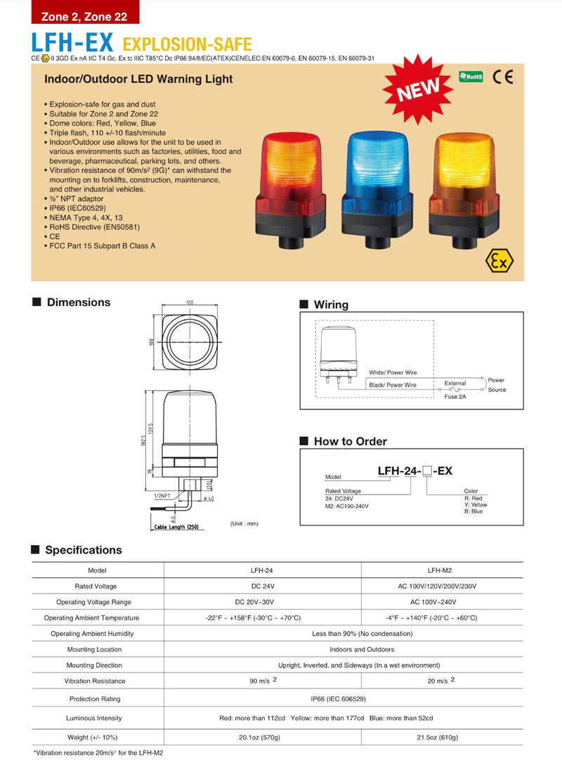 ATEX Explosion Proof Safe LED Warning Light I  I PATLITE SIGNALFX AUSTRALIA FACTORY DIRECT I CALL FOR BEST PRICE Ex Rated ATEX Rated Gas Oil