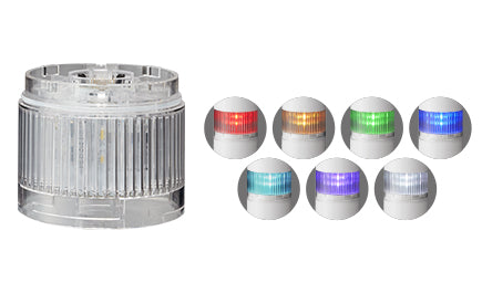 LR6-402WJNW-RYGB Signal Tower, LED, 4 Tiers, Amber, Blue, Green, Red, Continuous, 60mm, 24V, IP65, NEMA 4X, NEMA 13