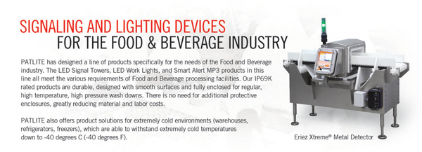 Ideal for Food and Beverage Processing Industry. IP rated Warning Light, Status Indication, Alarms