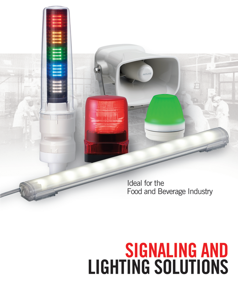 Patlite Signalfx Australia Vision Inspection Food and Beverage Processing IP rated LED Lighting