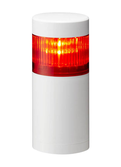 LR6-102WJNW-R RED LR6 LED Signal Tower Light 24V AC/DC REPLACES LME I Patlite SignalFx