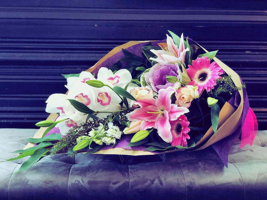Fresh Flowers Bouquet Pink