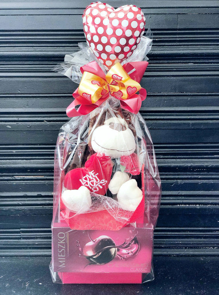 valentine's day soft toy chocolate gift set